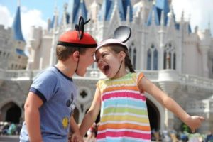 Kids and Cinderella Castle